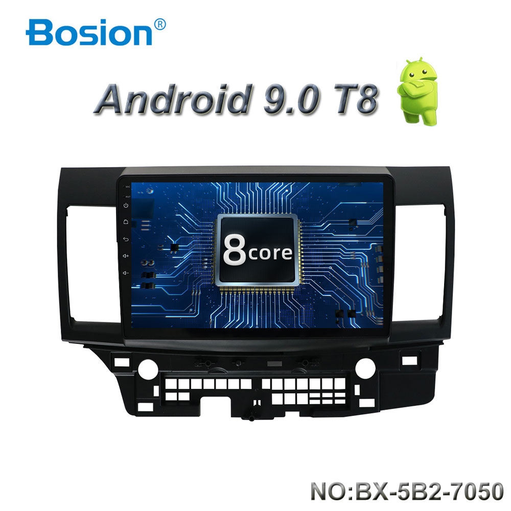 Bosion Android 9.0 Car DVD for MITSUBISHI LANCER 10.1 inch 2 DIN 3G/4G GPS radio video player with Capacitive 2007-2018 9 x image