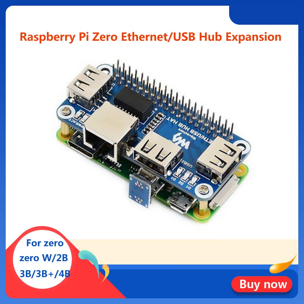 Raspberry Pi Zero W USB Hub Hat With RJ45 Ethernet Port For RPI  ZeroW/WH /2B/3B/3B+/4B
