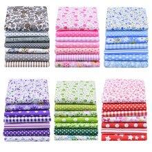Tejido de costura variado con estampado de algodón, tejido de costura hecho a mano con flores, 25cm x 25cm