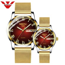 Couple Watch NIBOSI Men Watch Simple Luxury Quartz Wristwatch Womens Clock for Male Female Waterproof Lovers Thin Watch 2019(China)