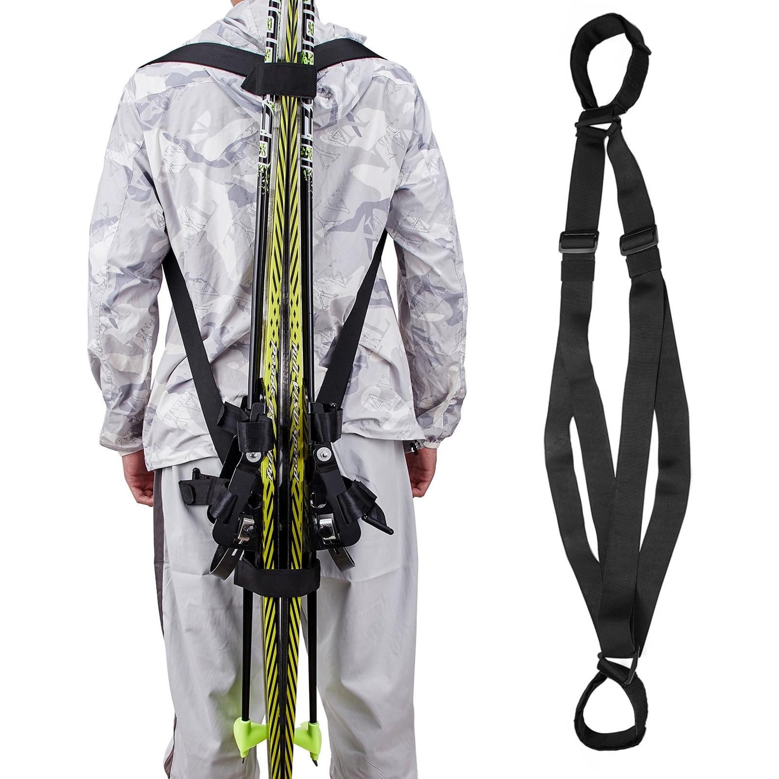 Лыжные через плечо с солнечным зарядным устройством ремня фиксированный ремень для катания на сноуборде повязки ручной регулируемый, для спорта на открытом воздухе аксессуары для лыж