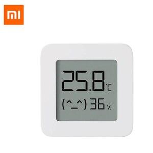 Image 2 - Умный термометр Xiaomi Mijia 2 Bluetooth датчик температуры и влажности ЖК цифровой гигрометр Измеритель влажности работа с приложением Mijia