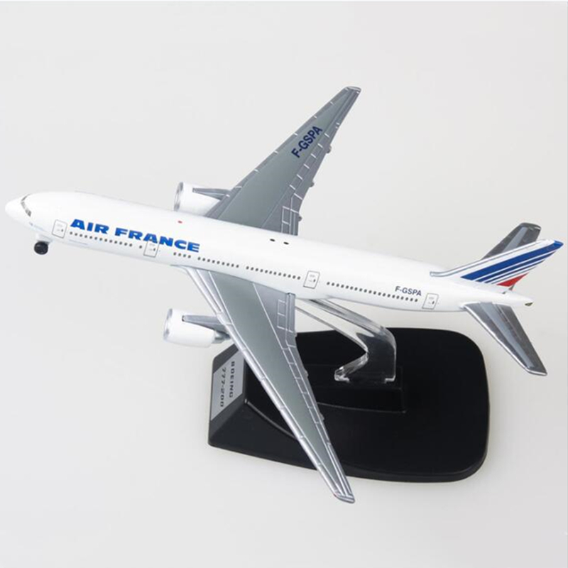 14CM Airplanes Air France Boeing B777 Model Metal Diecast Alloy Plane Model Toy Airplane Aircraft Kids Gift Collectible Display image