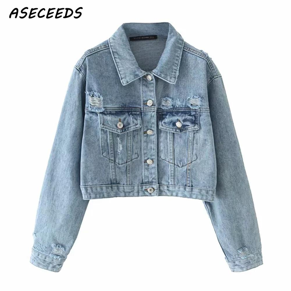 2019 Vintage   Basic     jacket   women denim   jacket   Fashion long sleeve casual jean   jacket   Korean coats and   jackets   women streetwear