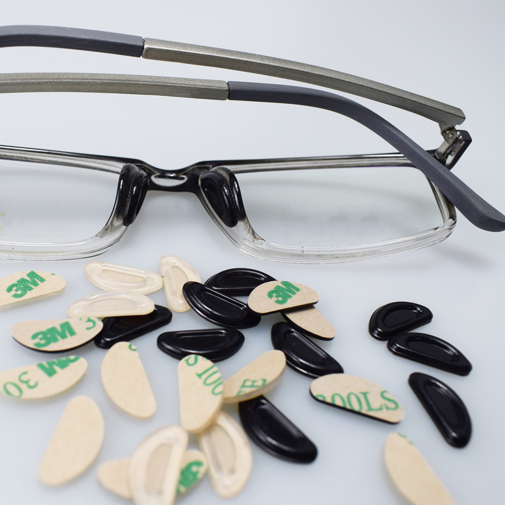 5 Pairs Glasses D Shape Silicone Nose Pad For Sunglasses Non-slip Thin Nosepads  Anti-Slip Silicone Stick   Eyewear Accessories