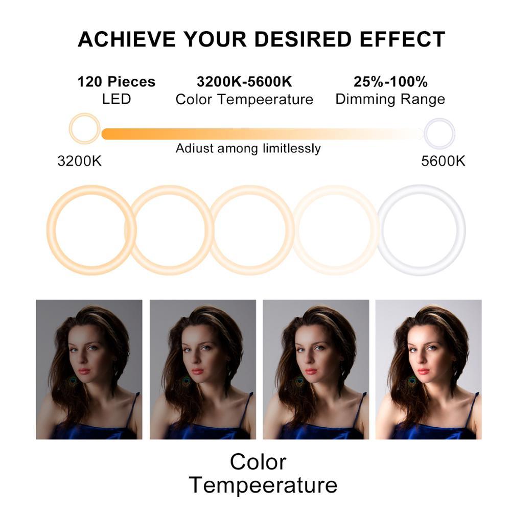 cheapest LED Ring Light 16cm Camera Ringlight Tripod Stand Phone Holder For YouTube Tiktok Photography Video Photo Studio Lamp Kit