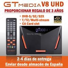 Novo gtmedia v8 uhd DVB-S2 4k receptor de satélite builtin wi-fi cline válido livre T2-MI h.265 1080p nenhum aplicativo incluído