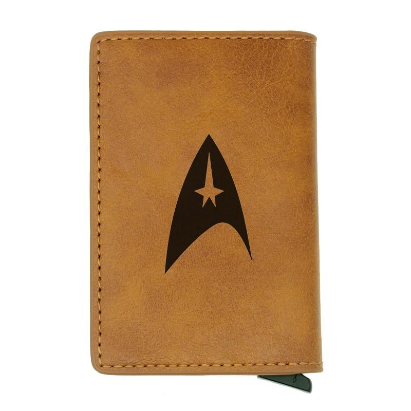 Retro Classic Star Card Wallet Vintage Men Women Credit Card Brown Leather Wallets Mini Short Purse Rfid