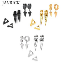 3 Pair/set Fashion Triangle Stainless Steel Personality Earrings Stud Set Punk Street Style Men Women Earring