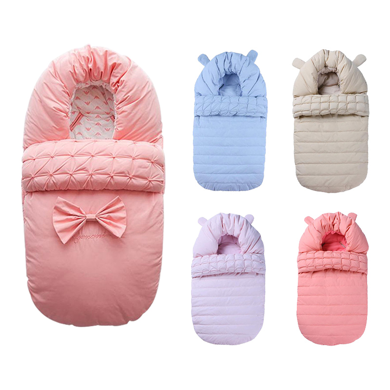 Baby Sleeping Bag Newborn Envelop Cotton Stroller Warm Bag 80*48cm Winter Stroller Sleeping Bag For Baby