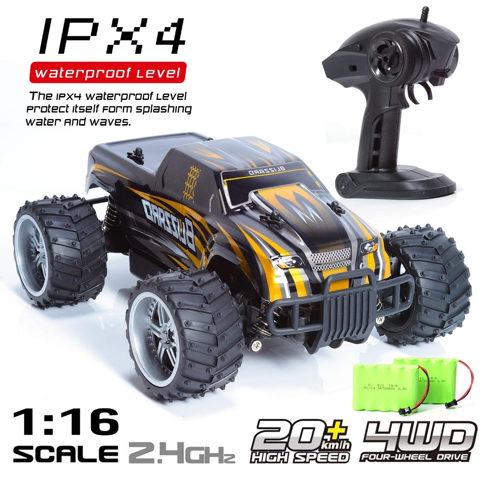 2019NEW Remote Control Car 4WD 2.4G <font><b>1</b></font>:16 High-Speed Buggy Climbing car Racing RC Drift Crawler RC Truck Radio-Controlled Car toy image