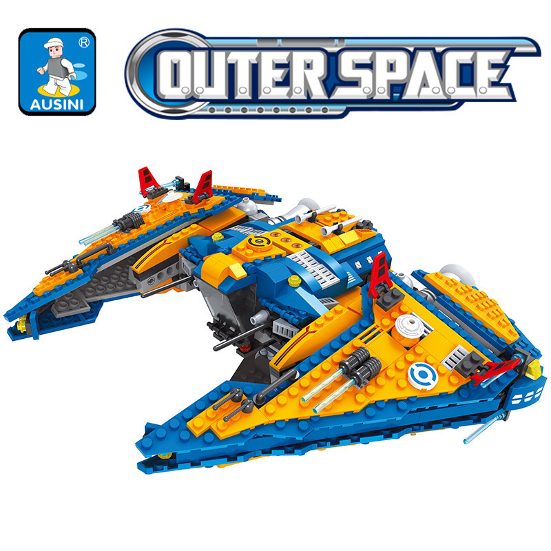 building construction Toy Ausini 25861 Star Outer Space Ship Building Blocks Wars Compatible 75154 Toys For Children Boy Gifts