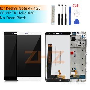 Image 1 - Pour Xiaomi Redmi Note 4X MTK helios 4GB lcd écran tactile numériseur assemblée avec cadre Note4X Pro écran pièces de réparation