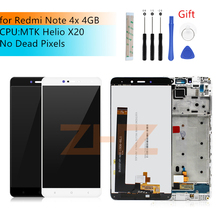 for Xiaomi Redmi Note 4X MTK helios 4GB lcd display Touch Screen Digitizer assembly with Frame Note4X Pro screen repair parts