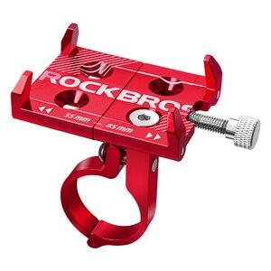 Image 5 - Rockbros ユニバーサルアルミバイク携帯マウントスタンドホルダーブラケット自転車ハンドルバーマウント 3.5 6.2 インチのスマートフォン