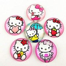 10pcs New design KT cats,Cartoons doll,Sophia, mermaid, snow white, long hair Princess 20mm Glass Cabochon for DIY  jewelry