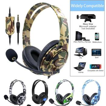 Game Earphones Headset over-ear Wired Gaming Headphones Deep bass Stereo Casque with Microphone for PS4 new xbox PC Laptop gamer deep bass headphone stereo over ear led light gaming headband headset for pc gamer