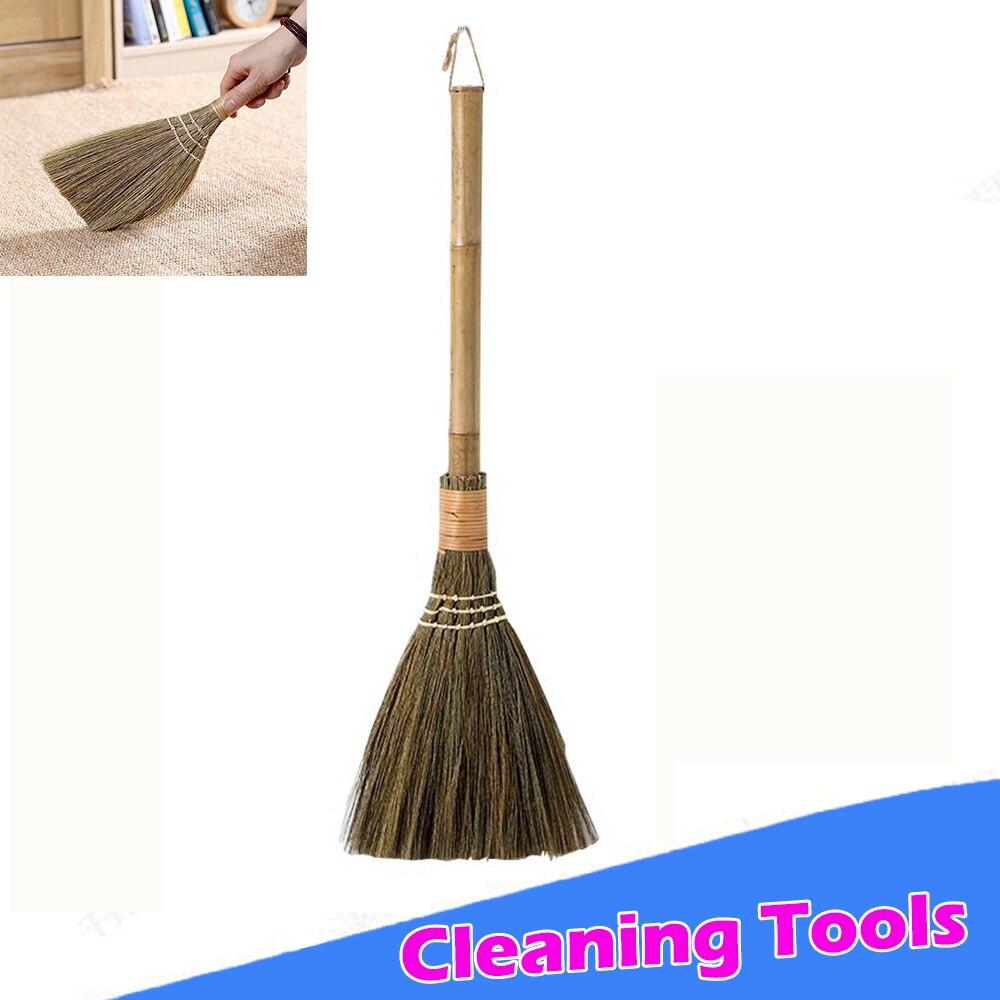 Ручная подметальная метла, бытовая тряпка, инструмент для очистки, полезный Плетеный соломенный щетка и совок для уборки, длинная секция