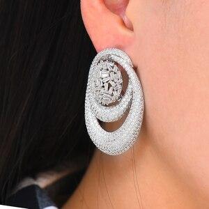 Image 4 - Godki novo luxo exclusivo círculo colar brinco conjuntos para o casamento feminino nupcial zircondubai cúbico high end conjunto de jóias 2019