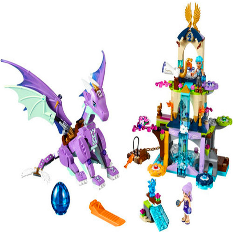 BELA 10549 Fairy Elves The Dragon Sanctuary Building Blocks Brick Compatible Technic <font><b>41178</b></font> Playmobil Toys For Children image