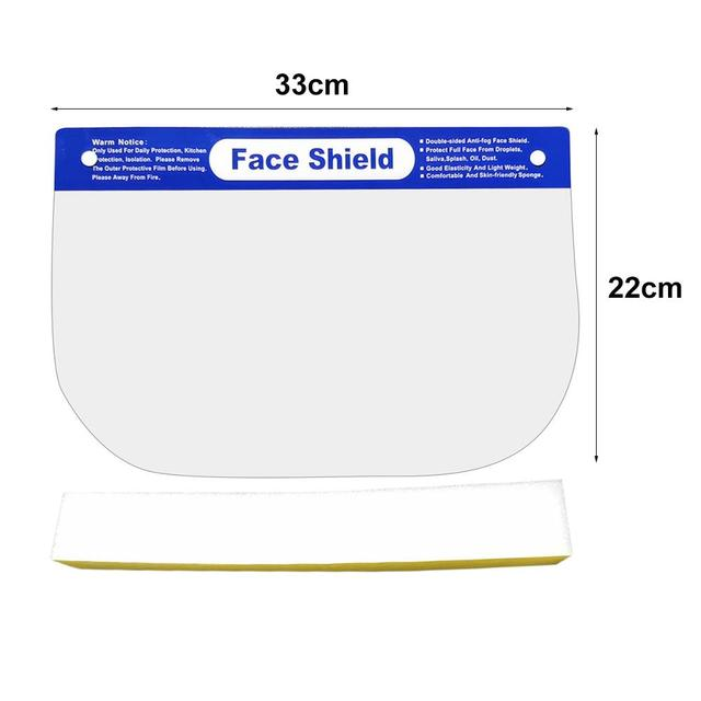 10PCS Face Shield Protection Full Face Protect Anti Saliva PVC Anti Foam Covering Dust-proof Safety Shield Tool Clear Face Mask 5