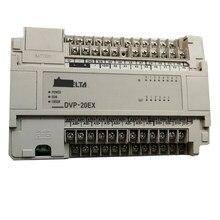 Original novo plc dvp20ex00r2 100-240vac 8di 6do relé 4di 2do saída analógica