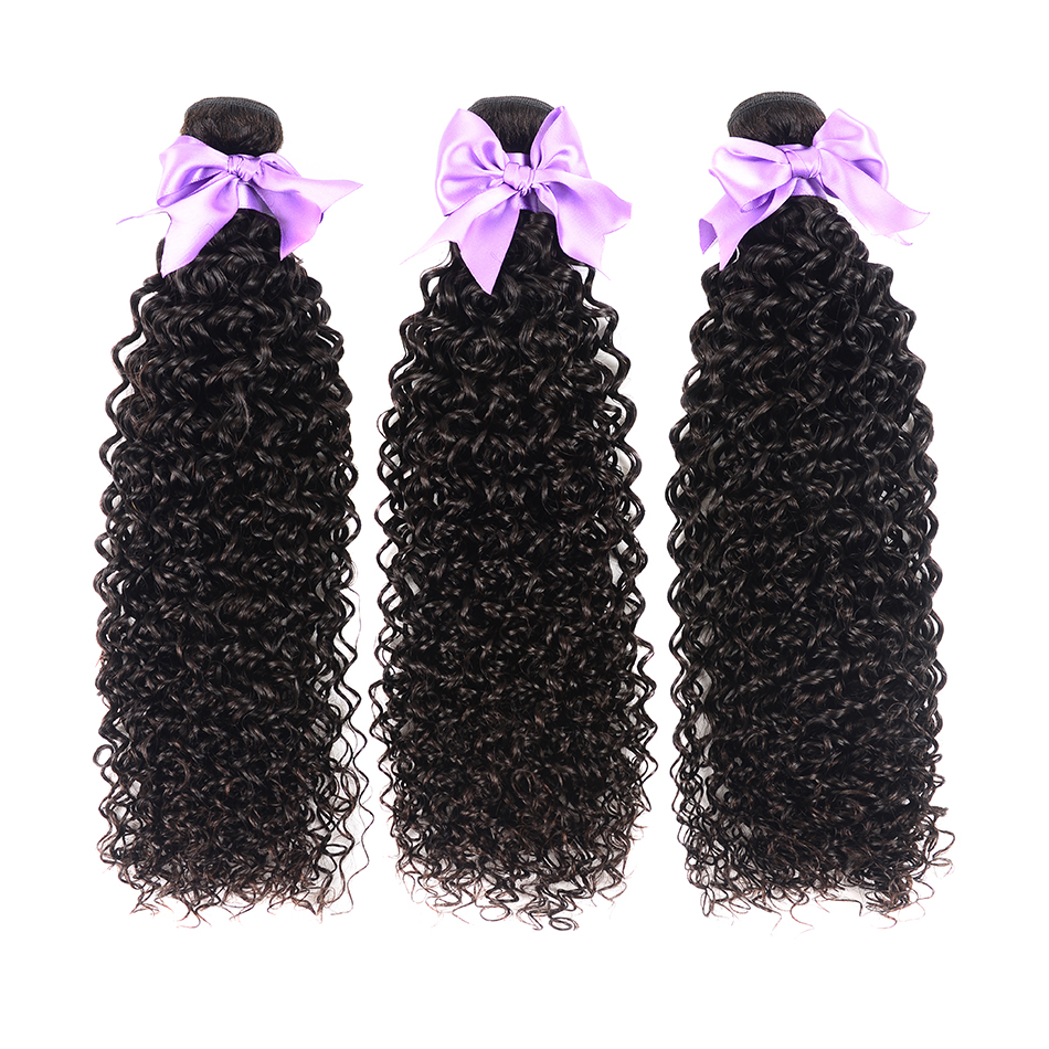Brazilian Kinky Curly Hair 3 Bundles Deals 100% Human Hair Weave Bundles 8-28 Inch Hair Extensions Shuangya Remy Hair Weaves