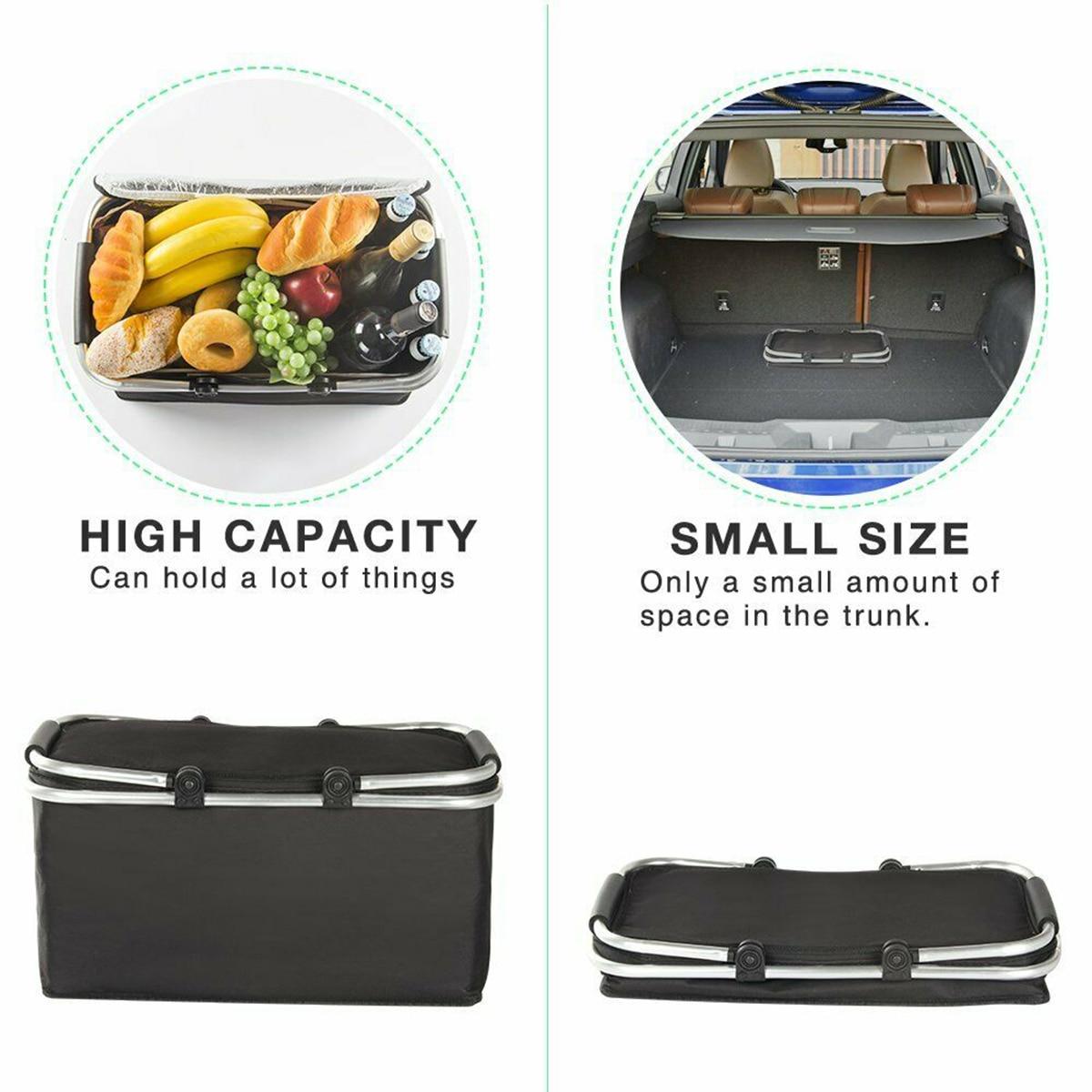 acampamento isolado cooler fresco cesta de armazenamento