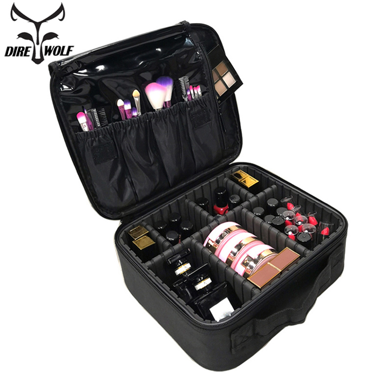 Women Cosmetic Bag Professional Beauty Brush Makeup Bag Case Waterproof Make Up Organizer Storage Bags Travel Necessary Suitcase