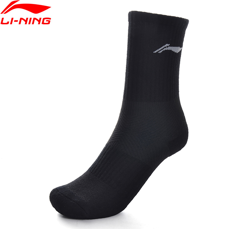 Li-Ning Unisex Training Series Sports Socks 24-28 Cm 84.1% Polyester 12.5% Cotton 3.4% Spandex LiNing Sport Socks AWLP082 NWM464