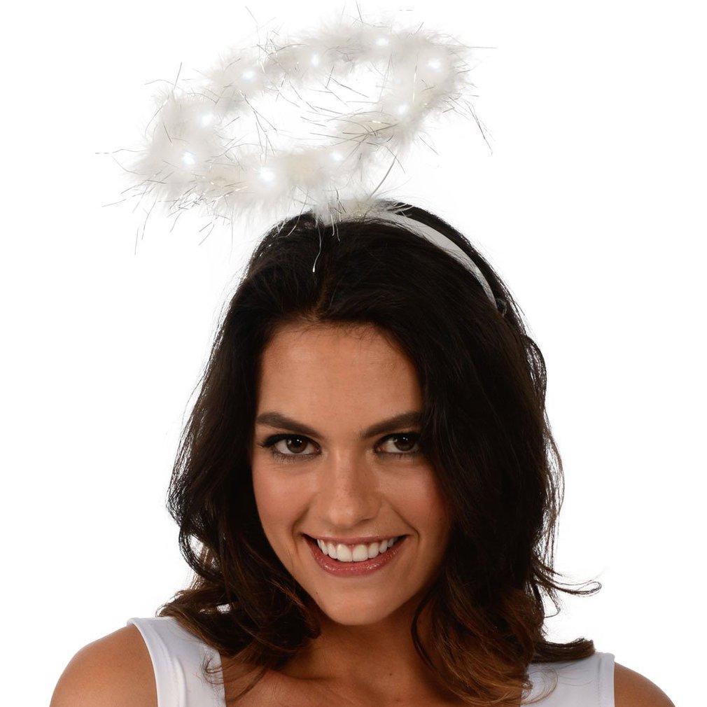 Bandeau lumineux ange Halo LED, accessoires pour cheveux, décoration de fête, carnaval, Baby Shower, anniversaire, Halloween, noël, nouveau