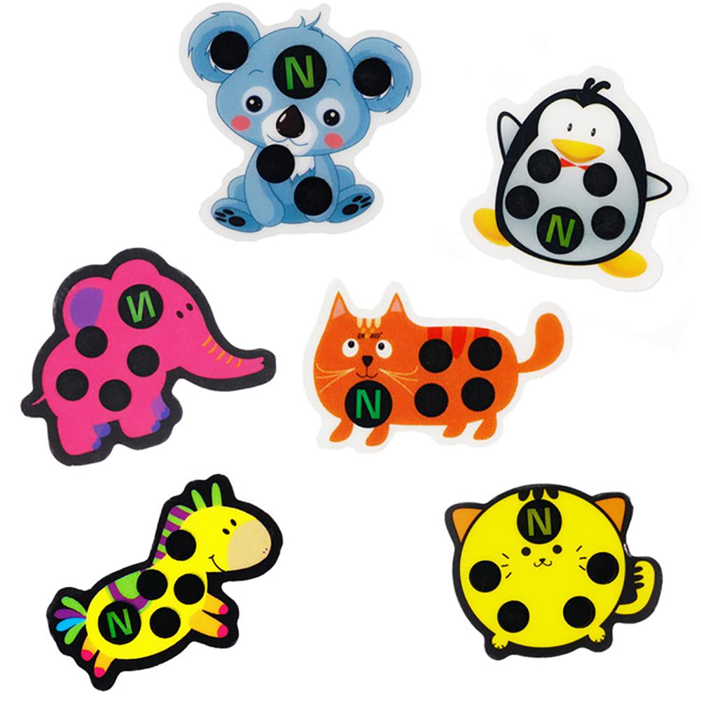 5Pcs Newborn Baby Thermometer Cartoon Bee Bear Animal LCD Forehead Sticker Body Fever Gauge Thermometers Reusable