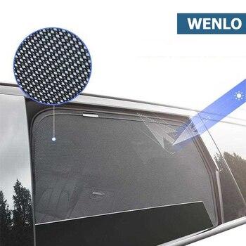 цена на 4PCS Magnetic Car Side Window SunShades Cover Mesh Blind For Hyundai IX25 IX35 IX45 I30 I40 Elantra Verna Tucson Sonata Santafe