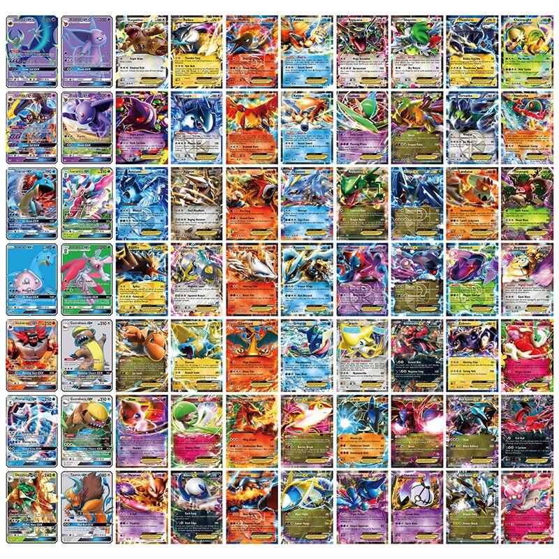 300 sztuk GX 20 60 100 sztuk MEGA Shining Tomy Pokemon karty Vmax gry Battle Carte Tag zespół Anime karty kolekcjonerskie Album dla dzieci zabawki
