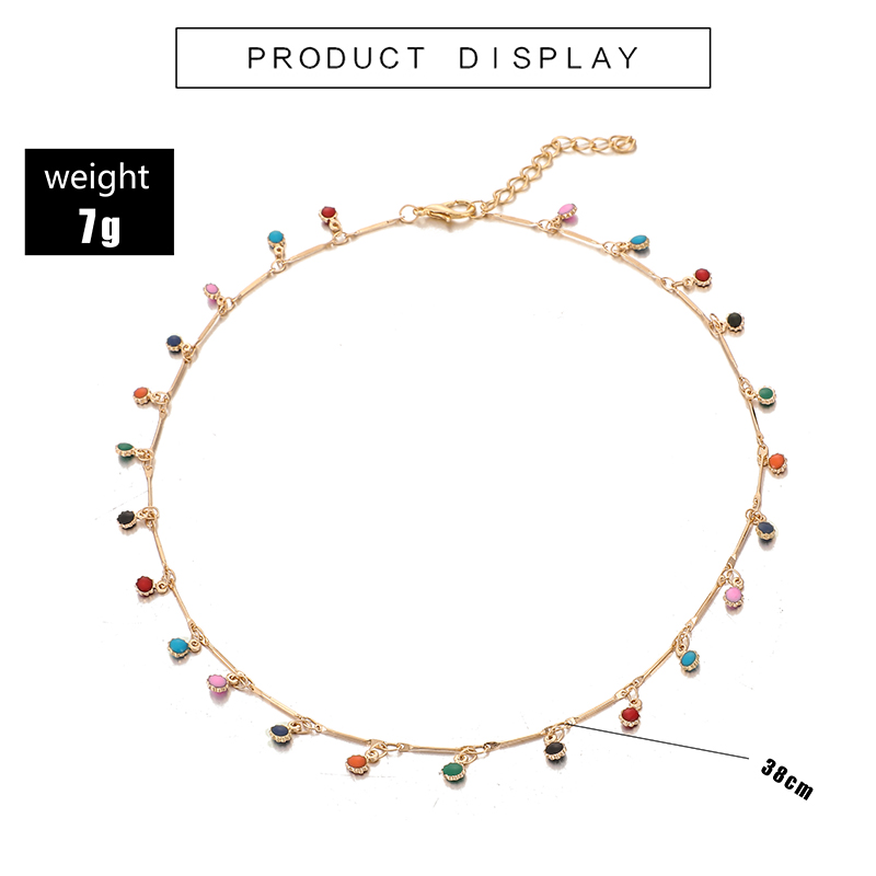 H9fa6745a991e40878bc739d37c2e340bO - Tocona Fashion Gold Necklace for Women Charming Colorful Stone Chain Chockers Handmade Party Jewelry Wholesale collares B31203