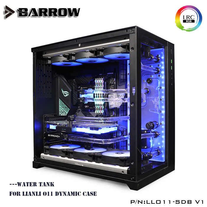 Réservoir d'eau de brouette pour LIANLI O11 boîtier dynamique RGB acrylique clair réservoir de carte de voie navigable LRC 2.0 INTEL LLO11-SDB de plate-forme V1