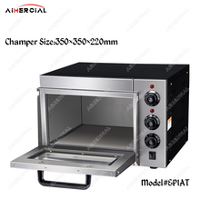 EP1AT electric higher chamber fire stone pizza oven stainless steel bread bakery machine equipment with thermostat & timer