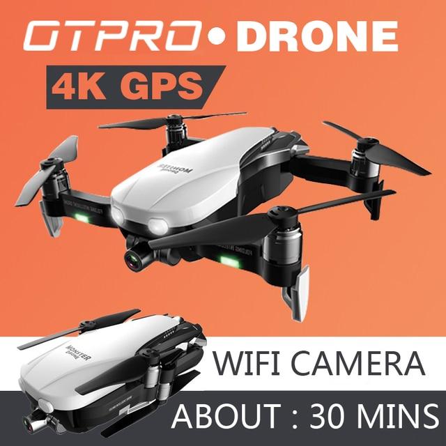 Mini Drone avec caméra 4K, Mini Drone quadrirotor professionnel GPS FPV RC, pliable, télécommande, jouets, cadeau