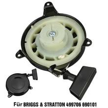 Assembly Starter Recoil-Pull Engine for Sprint 499706/690101/091212/.. Universal Black