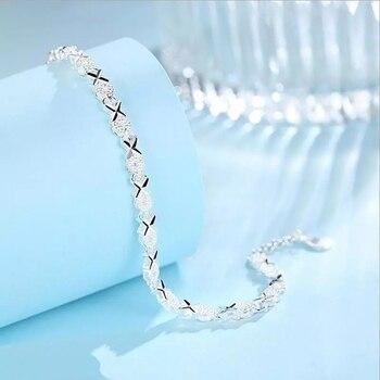 925 Sterling Silver Zircon Cross bracelet 4