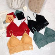 lace bra Sexy Underwear women set bra and panty set bralett push up bra lingerie pl lingerie sexy Back Closure A B Cup crochet lace y back lingerie set