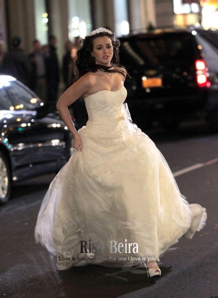 Free Shipping Vintage 2016 New Fashion Lace Backless Celebrity Dress Elegant Star Style Wedding Dresses Bridal ---- Jacket 10 Us