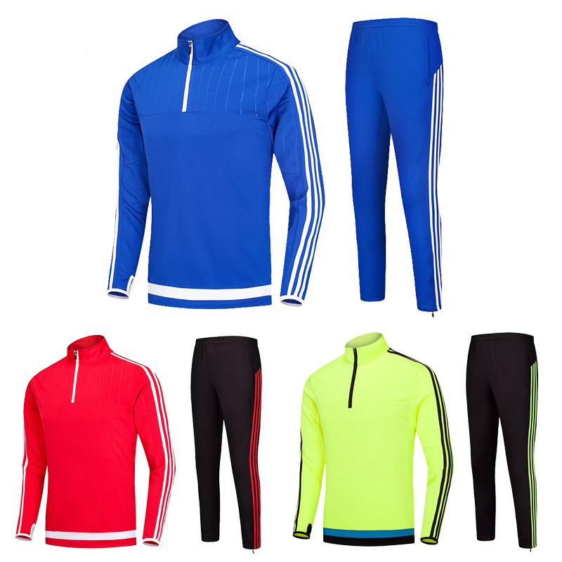 Long Sleeve Children Long Sleeve Football Training Suit Set Half Sports Jogging Suits Autumn And Winter Printed Words