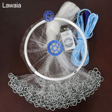 Lawaia Casting Net American Hand Throwing Net Korean Chain Hand Throw Small Mesh Fishing Net Diamter 2.4M-4.2M High Quality Nets lawaia casting net falling hand throwing net fishing nets diamter 2 4m 4 2m high quality sports korean hand throw fishing net