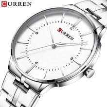 Luksusowa marka CURREN wojskowy zegarek kwarcowy mężczyźni sportowy zegarek na rękę tanie tanio Curren Blanche 23cm Moda casual QUARTZ NONE 3Bar Zapięcie bransolety CN (pochodzenie) STOP Hardlex Kwarcowe zegarki bez opakowania