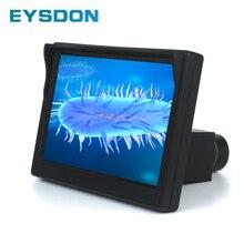 5 Polegada tela de exibição microscópio com 23.2mm porta ocular eletrônico digital
