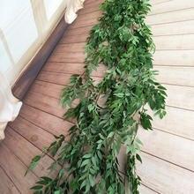 190cm artificial decoração de casamento, vinha falsa planta guirlanda casa jardim parede eucalipto