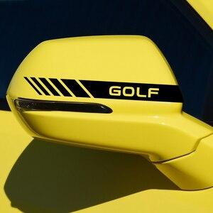 Image 5 - Bộ 2 Gương Chiếu Hậu Ô Tô Mặt Trang Trí Dán Cho VW Volkswagen Golf 7 GTi MK7 Passat 4 Chuyển Động MTM Xanh Dương chuyển Động Polo Caddy Tiguan R