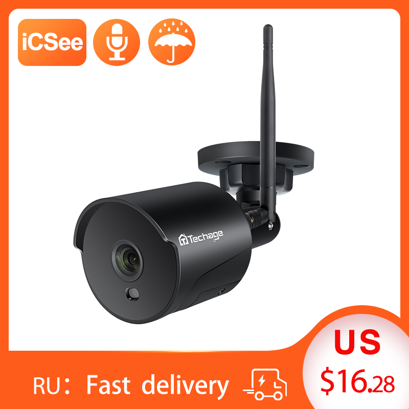 1080P Wifi CCTV Camera IP  2 Way Audio Outdoor Weatherproof Night Vision  Security Surveillance Camera With TF Slot