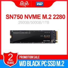 Western Digital WD Black SN750 SSD 1 TB M.2 2280 SSD WDS100T3X0C NVMe Gen3 PCle 3D Nand voor PC Laptop SSD M.2